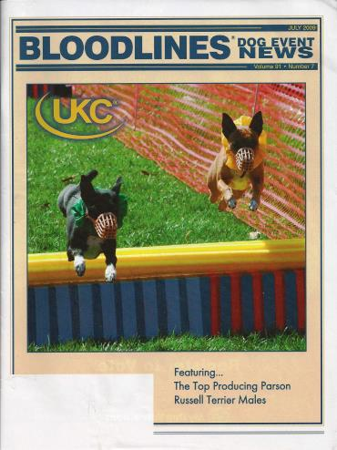 Iyan and Rummy - UKC Bloodlines Cover - July 2009